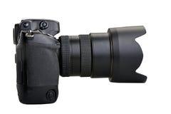 Black camera isolated on white background Royalty Free Stock Photo