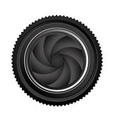 Black camera lens close icon Royalty Free Stock Photos