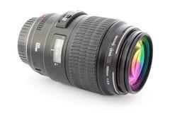 Black camera lens for DSLR. Isolated on white background Stock Image