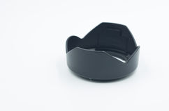 Black camera lens hood Royalty Free Stock Image