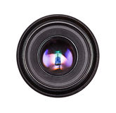 Black camera lens isolated Royalty Free Stock Image