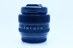 Black camera lens on white background Royalty Free Stock Image