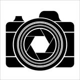 Black camera logo Royalty Free Stock Photo