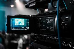 Black Camera Recorder Stock Photography