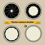 Black Camera shutter. Vector illustration Stock Photos
