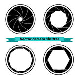 Black Camera shutter. Vector illustration Royalty Free Stock Images