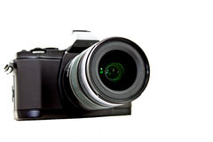 Black camera on white background 2 Stock Photos