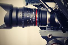 Black Camera Zoom Lens in Close Photography Stock Image