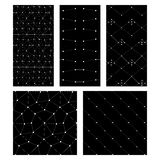 Black cand white set of abstrct seamless patterns Royalty Free Stock Images