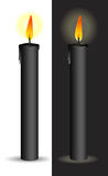 Black candle Stock Photography