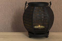 Black candle lamp Stock Photos