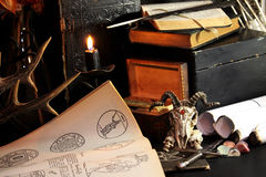 Free Black Candle Magic Ritual Stock Photos - 81031953
