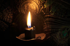 Black candle Magic Ritual Royalty Free Stock Photography