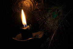 Black candle Magic Ritual Royalty Free Stock Images