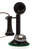 Black candlestick phone on a white background Stock Photography