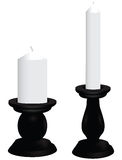 Black candlesticks Royalty Free Stock Photography