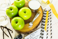 Black candy apples Royalty Free Stock Photography