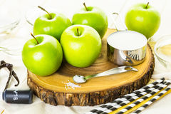 Black candy apples Royalty Free Stock Image