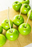 Black candy apples Stock Photography