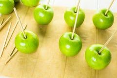 Black candy apples Stock Photos