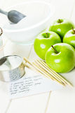 Black candy apples Royalty Free Stock Photo