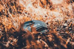 Black Canon Camera Lens Cover Royalty Free Stock Photography