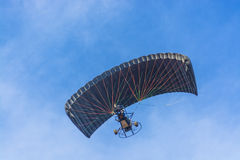 Black canopy powered tandem para glider Royalty Free Stock Image