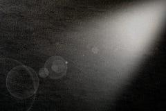 Black canvas background illuminated from the right corner spotli Royalty Free Stock Photo