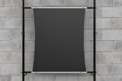 Black canvas stretch on metal pipe Stock Image