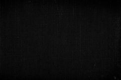 Black canvas texture Stock Photography