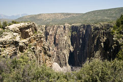 Black Canyon. A scenic view from the rim of the Black Canyon of the Gunnison Stock Image