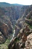 Black Canyon. River and canyon walls stock photos