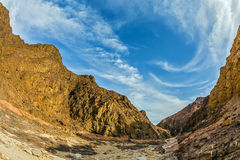 Black canyon in ancient mountains Stock Photography