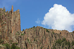 Black Canyon of the Gunnison. A breathtaking view of the jagged walls of the Black Canyon of the Gunnison National Park gorge Stock Photography