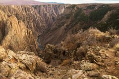 Black Canyon of Gunnison. Black Canyon of the Gunnison National Park is in Western Colorado, United States of America. Canyon Formation royalty free stock photos