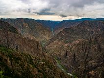 Black Canyon of the Gunnison Overlok, Canyon View Stock Images