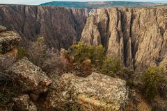 Black Canyon in Gunnison. Scenic Black Canyon in Gunnison, Colorado, United States of America stock photography