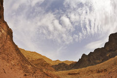 Black canyon in mountains in Israel royalty free stock photos