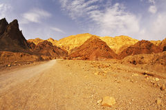 Black canyon in mountains of Israel Stock Photography