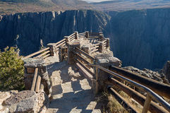 Black Canyon Overlook. Steps leading down to the Gunnison Ppoint overlook at the Black Canyon of the Gunnison National Park Colorado stock photos