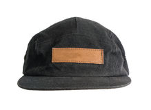 Black cap on white background, isolated Stock Photos