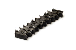 Black capacitors Royalty Free Stock Image
