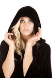 Black cape shocked Royalty Free Stock Photo
