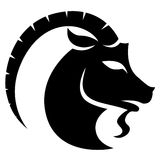 Black Capricorn Zodiac Star Sign Stock Photos