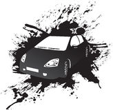 Black car. A vector black car on a black splash background Royalty Free Stock Photo