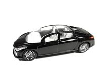 Black car. Model of black car isolated on white background Royalty Free Stock Photos