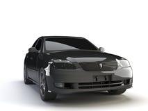 Black car. On the white Stock Photos