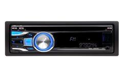 Black car audio CD-MP3-WMA-Player. A photo of Black car audio CD-MP3-WMA-Player over white background stock photos