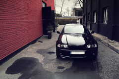 Black car, BMW E46 Coupe Stock Photo