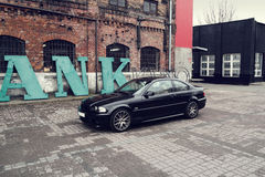 Black car, BMW E46 Coupe Royalty Free Stock Images